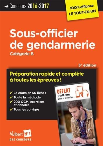 Concours sous-officier de gendarmerie, catégorie B