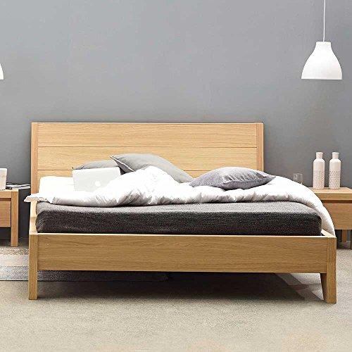 Pharao24 Bett mit Eiche furniert lackiert Breite 150 cm Tiefe 216 cm Liegefläche 140x190 -