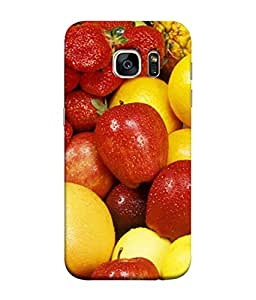 PrintVisa Designer Back Case Cover for Samsung Galaxy S7 Edge :: Samsung Galaxy S7 Edge Duos :: Samsung Galaxy S7 Edge G935F G935 G935Fd (Fruits In Colourful Design)
