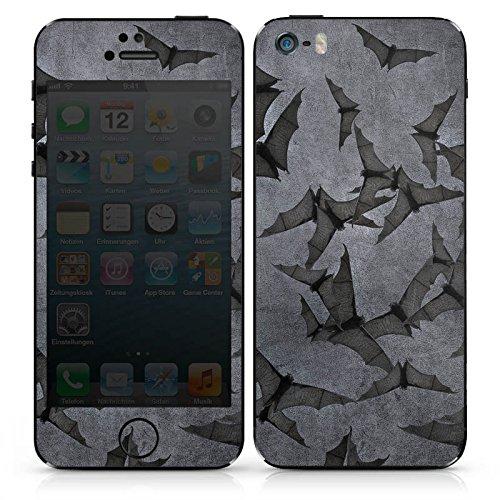 Apple iPhone SE Case Skin Sticker aus Vinyl-Folie Aufkleber Fledermaus Bat Vampir DesignSkins® glänzend
