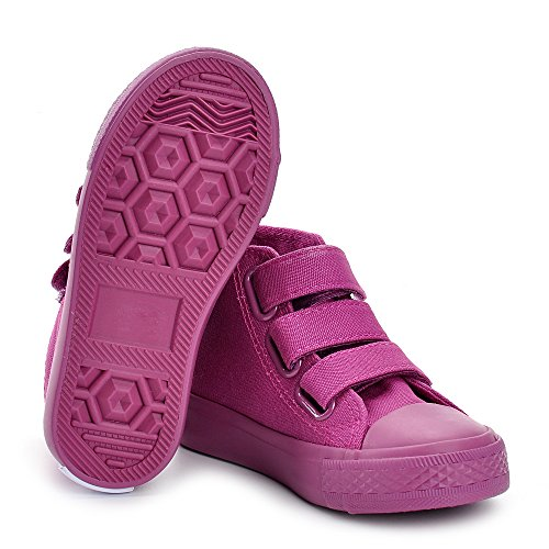 Eetamico,Baskets hautes Mixte Enfant,Sneakers Fille de Toile Violet