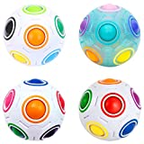 Easehome Magic Rainbow Ball 4 Pack Rainbow Speed Puzzle Cube Magico Cubo Educación Juguetes para Niños