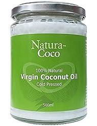 Natura-Coco Huile de coco 100% Vierge et Naturelle (pot de 500ml)
