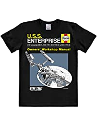 Logoshirt Men's Star Trek-Haynes Workshop Manual Casual Shirt