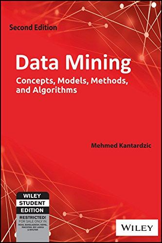 Data Mining: Concepts, Models, Methods and Algorithms