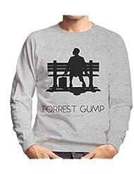 Forrest Gump Bench Movie Silhouette Mens Sweatshirt