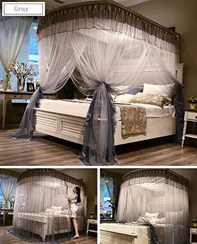 LOKKM Moskitonetz Große Doppel Single Size Betthimmel Netting Bettwäsche Dekorative Prinzessin Bett Platz Moskitonetz für für Indoor-und Outdoor-Camping, Gray, 1.5m - Schwarz Netting-bett