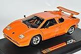 Lamborghini-Countach-5000-Quattrovalvole-1988-Coupe-Orange-124-Bburago-Modell-Auto-mit-oder-ohne-individiuellem-Wunschkennzeichen