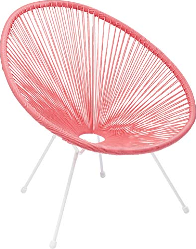 Kare Design Sessel Acapulco Pink, moderner Acapulco Sessel, Gartenstuhl, Outdoorstuhl, Relaxsessel, Stuhl, Wetterfest, XXL Retro Chillsessel Outdoorgeeignet (H/B/T) 85x73x78cm