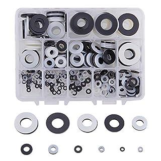 increway weiß/schwarz Nylon isolierend flach Unterlegscheiben Sortiment Set, M2M2,5M3M4M5M6M8M10M12