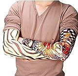 Lomire 6 Stück Dünne Nylon Tattoo Ärmel Sleeve Temporäre Tätowierung Tattoo Skin Arm Stulpe Sleeve