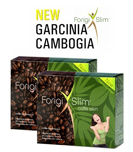 2 x FORIGISLIM CON GARCINIA CAMBOGIA - Prodotto dimagrante - Bevanda al caffè - Inibitore di appetito - Integratore alimentare per la perdita di peso - Dieta / Dimagrimento naturale - Senza Gluteine - Dieta vegana