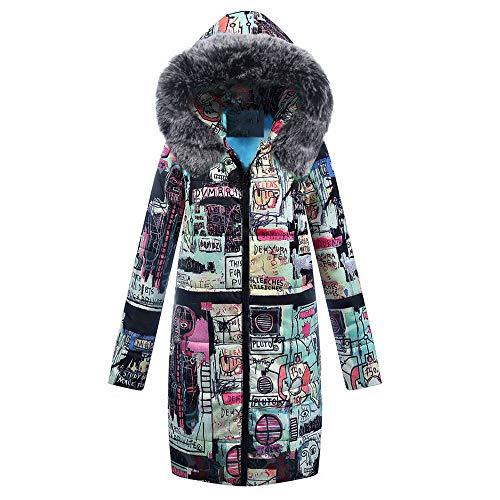 ef5d79cfc5 Cappotto da Donna Sezione Media E Lunga Piumino di Inverno Giacca Manica  Donna Qinsling