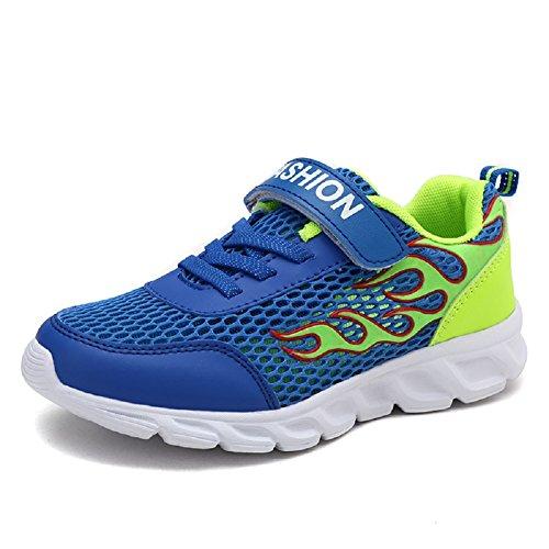 Axcer Scarpe Sportive per Bambini Ragazze e Ragazzi Respirabile Ultraleggero Scarpe da Corsa Basse Outdoor Multisport Calzature da Escursionismo Ginnastica Running Sneakers (30 EU, Diamante Blu)