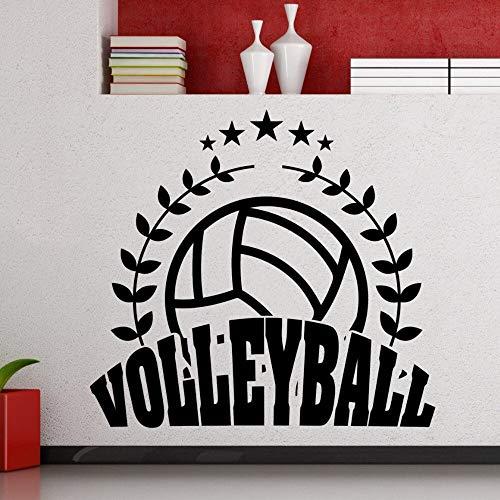 Geiqianjiumai Volleyball Logo Zeichen Fenster Aufkleber Pop Sport Club Dekoration Liebhaber Wandaufkleber 42X39CM