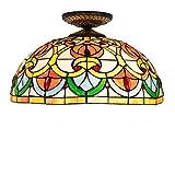 CFYBAO Herzperlen Tiffany Ceiling Lampe Stained Glass Ceiling Licht Eingang Hallway Dekorative Lichter Lampe 40CM