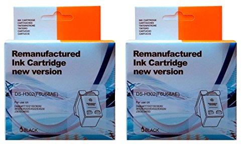Pack 2Stück kompatible Tintenpatrone HP 302XL - Drucker One Portable In All