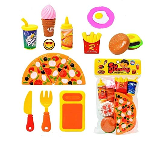 Shine Mill Yummy Fast Food Play Set -Multi-Color, 222 G