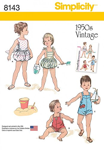 simplicity-baby-sewing-pattern-8143-vintage-style-set-of-one-piece-play-suits