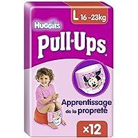Huggies Pull Ups Mädchen Slip, Größe L, 12 Stück