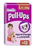 Huggies Pull-Ups Fille Taille 6/Large (16 -23 kg), Couche-culotte d'Apprentissage de la Propreté Disney Princesses x12 Culottes