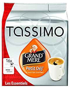 Get Grandmere Petit Dejeuner Coffee Pods for Tassimo , Large Cup Size - 16 T discs - (Pack of 5 - Total 80 Discs) from Mondelez