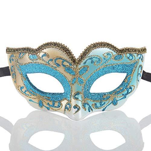 ruer Vielzahl Stil Maskerade Maske Spitze Gemalt Prinzessin Party Weihnachten Maske -2PCS,Blue (Australien Halloween-dekorationen Aufblasbare)