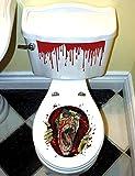 Zombie Toilettendeckel Aufkleber für Halloween Party