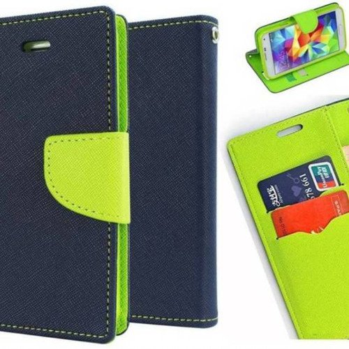 Finaux Fancy Diary Wallet Flip Cover Case For Nokia Lumia 525 (Blue Green)  available at amazon for Rs.229
