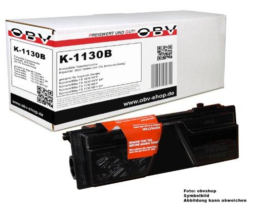 Toner kompatibel ersetzt Kyocera Mita TK 1130 passend für FS 1030 MFP / 1030 MFP DP / 1130 MFP / 1130 MFP DP , Kapazität 3000 Seiten, schwarz (Passende Vorratsbehälter)