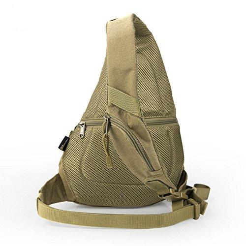 BULAGE Taschen Sport Outdoor Schulter Tasche Freizeit Brusttasche Lässig Atmungsaktiv Und Bequem Tragbar Kompakt Tornister Picknick Brown