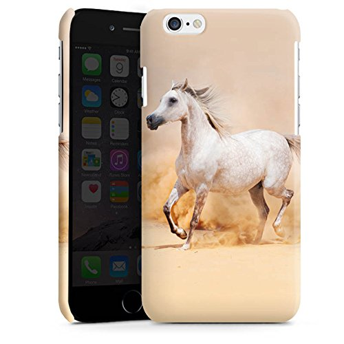 Apple iPhone 5s Housse Étui Protection Coque Cheval Désert Cheval Cas Premium brillant