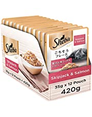 Sheba Premium Wet Cat Food Food, Fish Mix (Skipjack & Salmon), 12 Pouches (12 x 35g)
