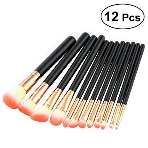 12pcs produits cosmétiques professionnels haut de gamme pinceaux de maquillage droite tube rose haut de gamme