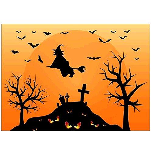 ForU-1 5D Halloween Hexe Diamant Gemälde Stickerei DIY Kreuzstich Home Decor (Batman Halloween-kostüm Diy)