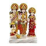 SUNNY CORPS Ramdarbar Marble Finish Statue Idol Showpiece Murti For Home LxHxW(cm) = 9x13x5.5