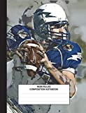 Best Creative Composition Notebooks - Composition Notebook: Football Quarterback, Composition Book for School Review