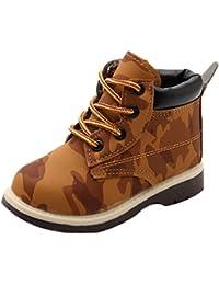 Sneakers marroni per bambini Tefamore