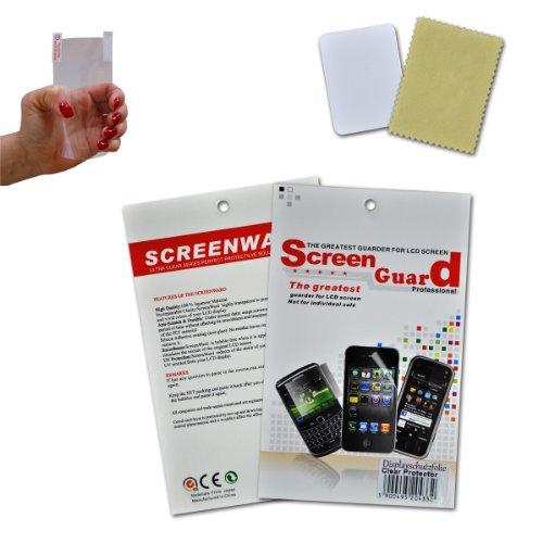 sw-mobile-shop 2x Handy Bildschirmschutzfolie Schutz Folie unsichtbar für Samsung Galaxy S2 i9100 / Samsung Galaxy S II i9100