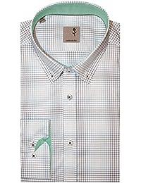 Shirts & Hemden Seidensticker Herren Langarm Hemd Tailored Fit Covered Bd 246192.72 Grün Kariert Kleidung & Accessoires