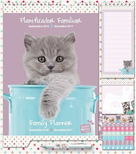 Grupo Erik Editores, S.L. - Planificador familiar 2016/2017 studio pets gato grupo erik morado y verde