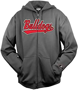 "Georgia Bulldogs Majestic ""Tailsweep"" Charcoal Full Zip Hooded Sweatshirt"