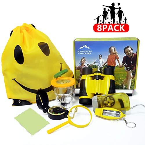Bigear Adventure Outdoor Explorer Kit, Kids Fun Toys Educational Toys for Birthday Present, Kids Binoculars Set for Camping Hiking Pretend Play