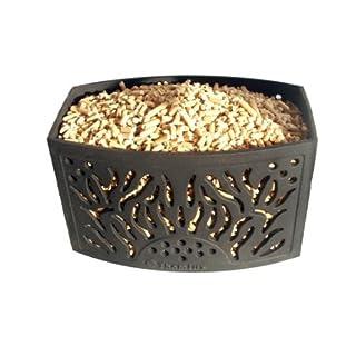 Pelletkorb aus Guß für Kamine und Kaminöfen