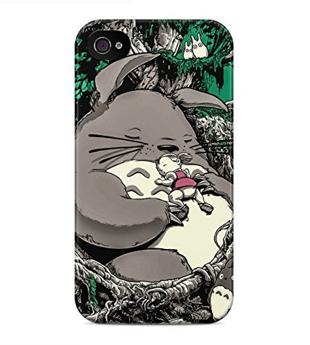 My Neighbor Totoro Mei And Totoro Sleeping Hard Plastic Snap On Back Case Cover For iPhone 4 / 4s Custodia