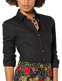 825422fb3bd Tidecc Women Office Shirt Long Sleeve Button Down Lapel Shirt Business Work  Shirt Blouse