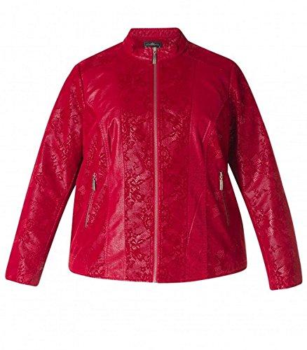 x-two Jacke Übergangsjacke Wildleder-Imitat für mollige Damen in Rot