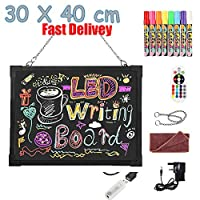 LED Writing Drawing Board Art Glow Sensory Electronic Neon Illuminated Erasable Board Kids Doddle Scribble Memo Notice Board Handwriting Pad Sensory Toy for Autism