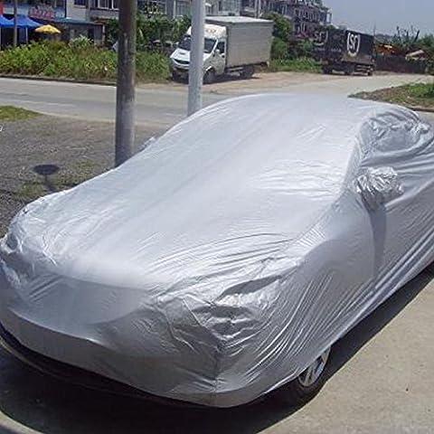 General Motors coche ropa de coche Protector contra el polvo coche Protector solar Protección UV de refrigeración, Plateado, mediano