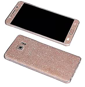 Heartly Sparking Bling Glitter Crystal Diamond Protective Film Whole Body Phone Skin Sticker For Samsung Galaxy On8 - Champagne Gold